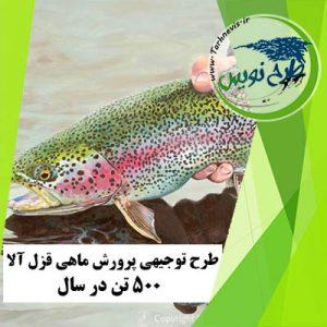 طرح توجیهی پرورش ماهی قزل آلا 500 تن